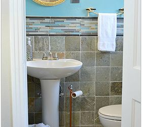 Beachy Small Bathroom Makeover