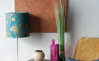 stencil how to stenciling a lampshade, crafts, painting, repurposing upcycling, Forest Floor Damask Stencil