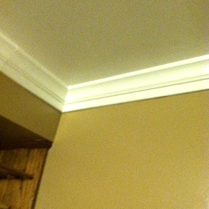 Foam Crown Moulding - It\'s so easy. Completed Job Pictures | Hometalk
