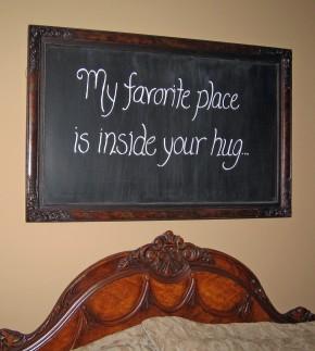 diy chalkboard sign, chalkboard paint, crafts, home decor