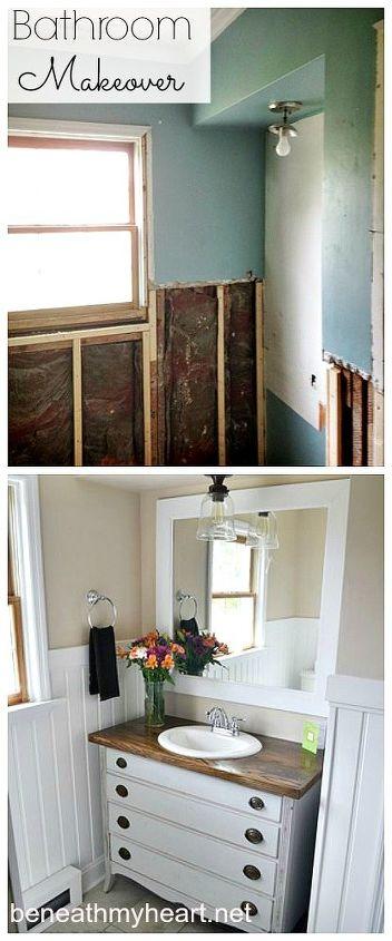 bathroom makeover, bathroom ideas, diy, home decor, small bathroom ideas