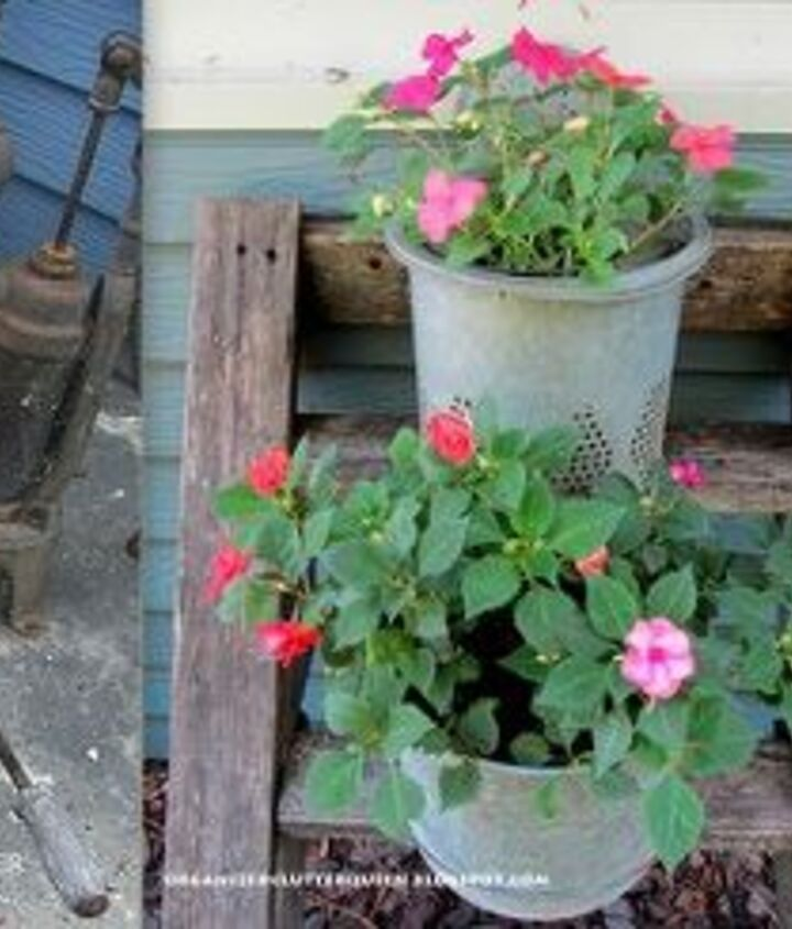 Pails and buckets.  Mop buckets, minnow pails and inserts, hanging pails for trailing plants.