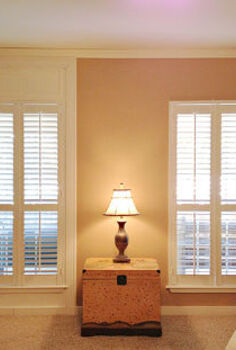 how to add trim to make your shutters reach the ceiling, diy, home decor, how to, living room ideas, windows, Side by side you can really see what a big difference the trim makes