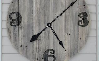 easy diy pallet clock, crafts, home decor, outdoor living, pallet, repurposing upcycling, Add a clock mechanism and your done I was so proud of this since it s my very first time using the jigsaw xo