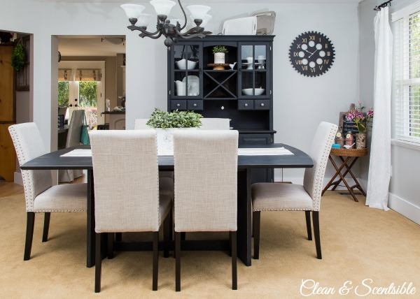 dining room updates, chalk paint, dining room ideas, painting