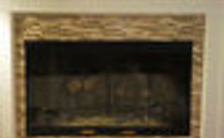 easy tiling with smart tiles, diy, fireplaces mantels, home decor, living room ideas, A painted mantle new doors new log set and NEW TILE