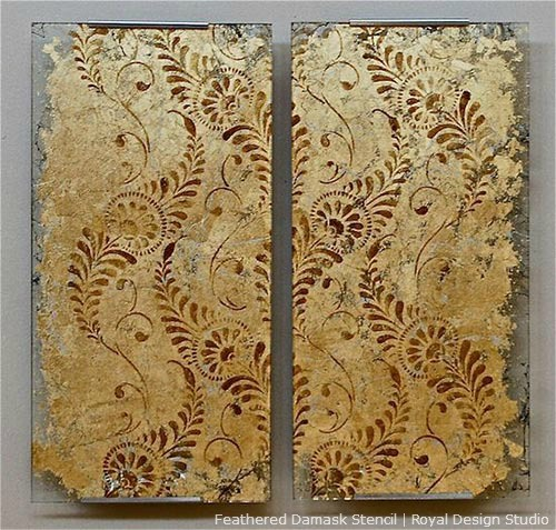 Feathered Damask Stencil http://www.royaldesignstudio.com/products/feathered-damask-stencil