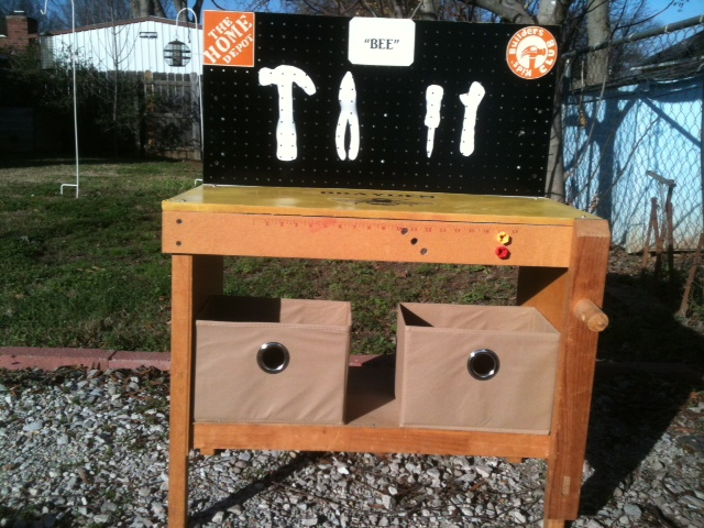 workbench built for my grandson, painted furniture