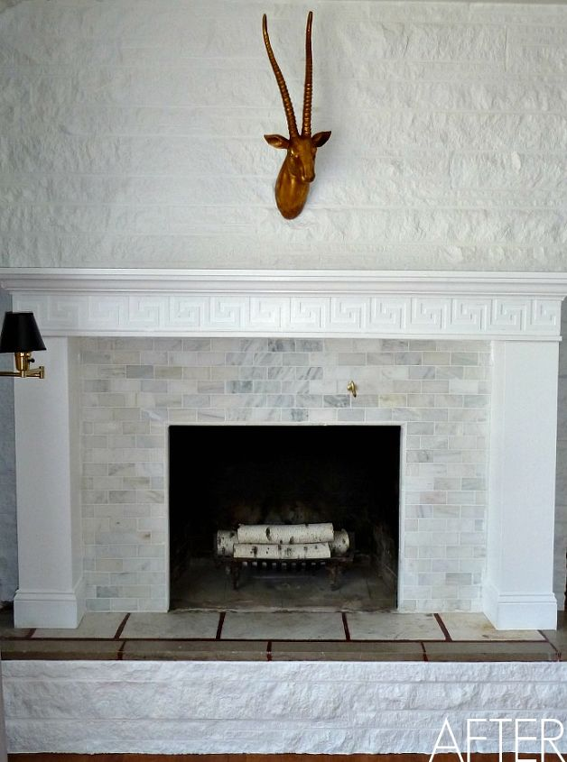 Here's our finished fireplace.