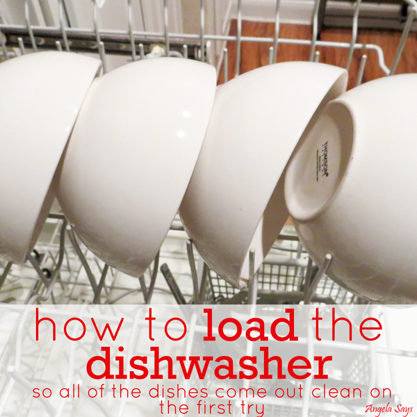 how to load the dishwasher so all of the dishes come out clean, appliances, cleaning tips
