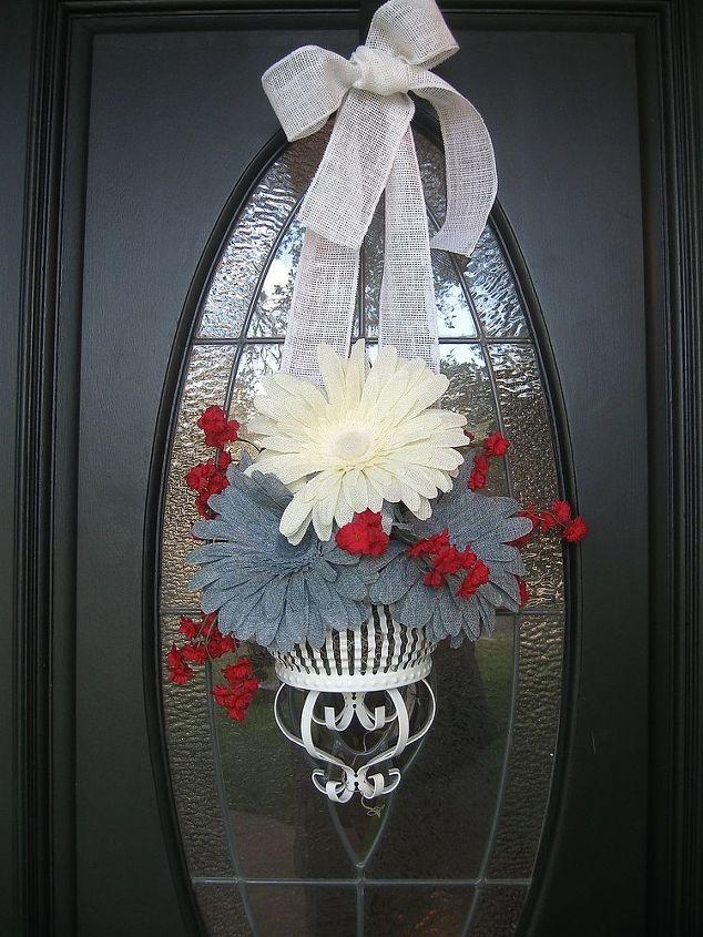 summer wreaths, crafts, patriotic decor ideas, seasonal holiday decor