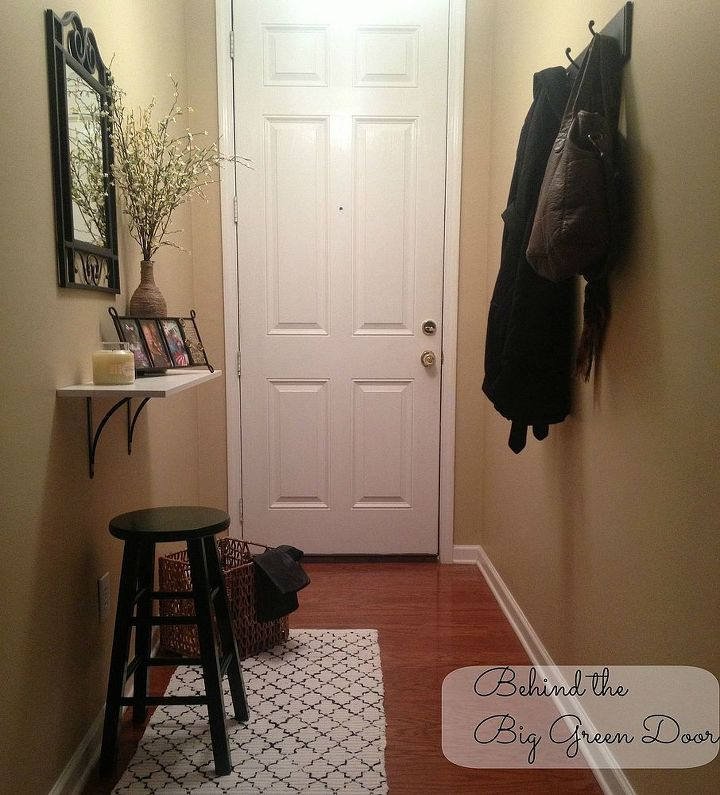 Foyer Hallway Questions : Small and narrow entryway update hometalk