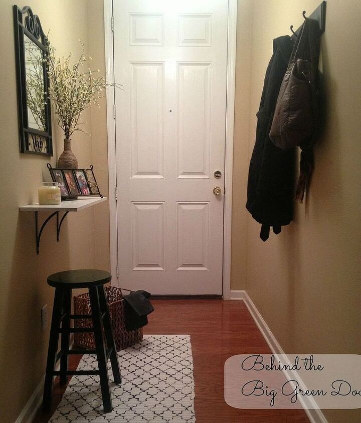 Welcome to my Entryway; a mix of warmth and functionality. The entryway was inexpensively put together through DIY projects, thrift shopping, and clearance shelves. I love how it turned out!