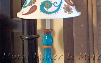 paisley thrift store lamp makeover, crafts, lighting, painting, repurposing upcycling