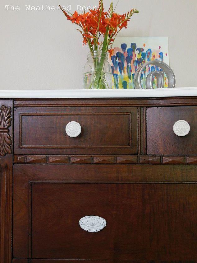 Fantastic A Dark Wood Dresser With a White Top | Hometalk BK78