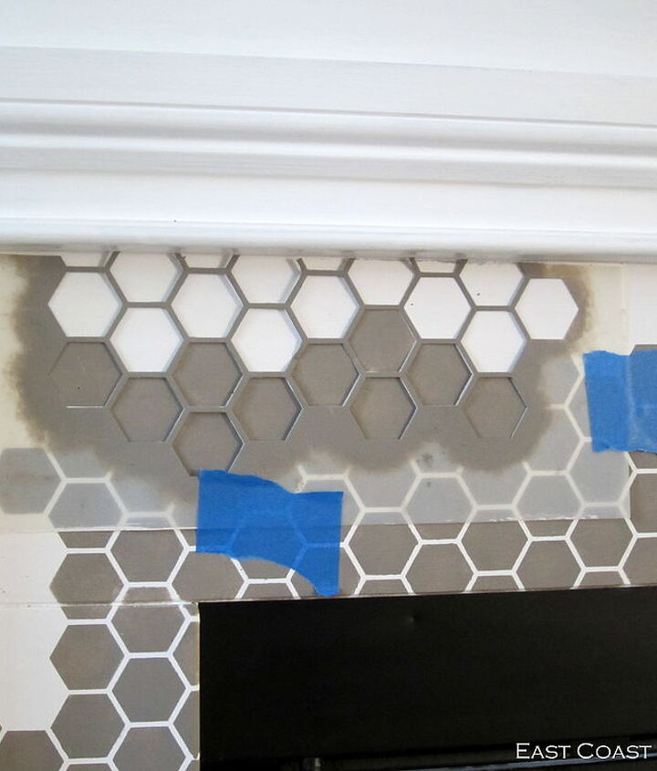 How to Stencil a Fireplace