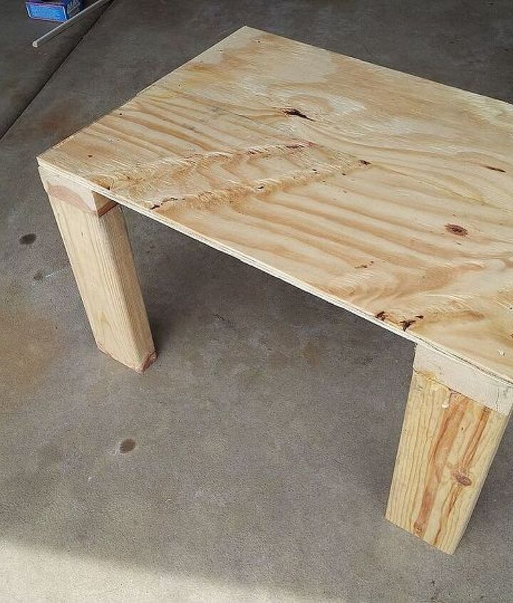 Just plywood and some 2x4s.