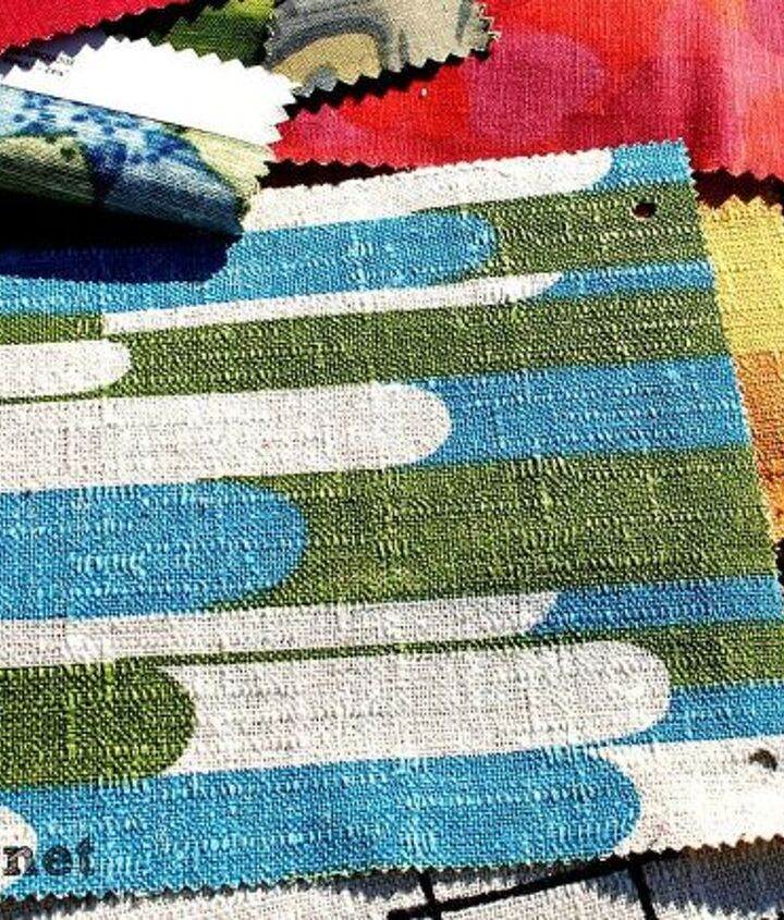 Upholstery samples on a table.. $1 apiece