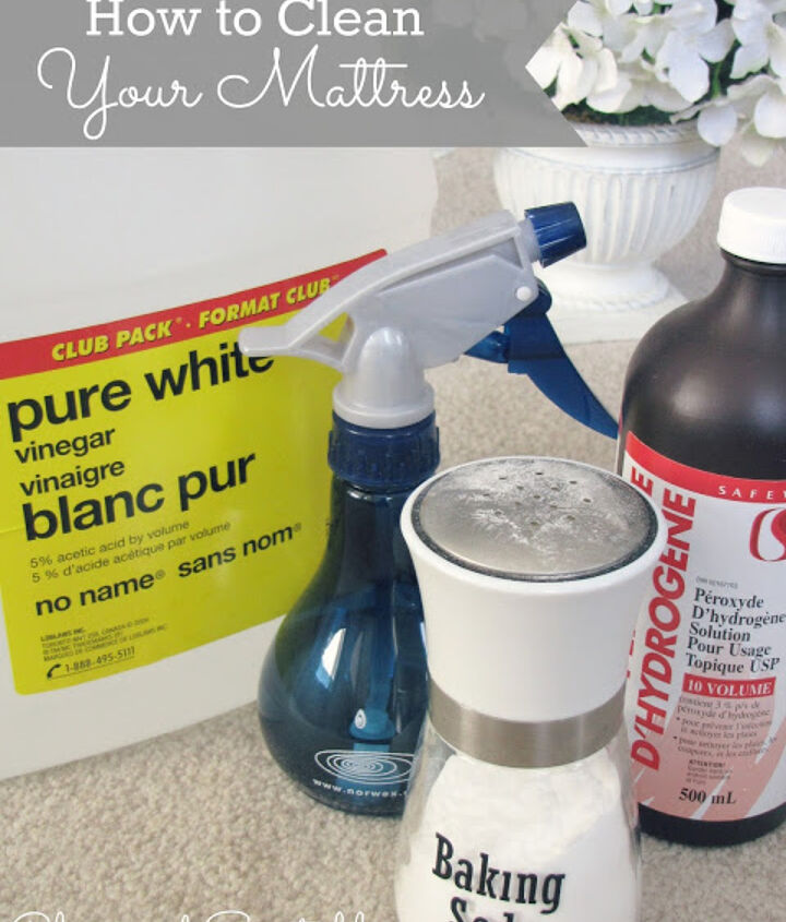 All you need is baking soda and your vacuum with the upholstery attachment for basic cleaning.  For more intense stains, there are lots of effective natural cleaners such as vinegar, and hydrogen peroxide {see post for details}.