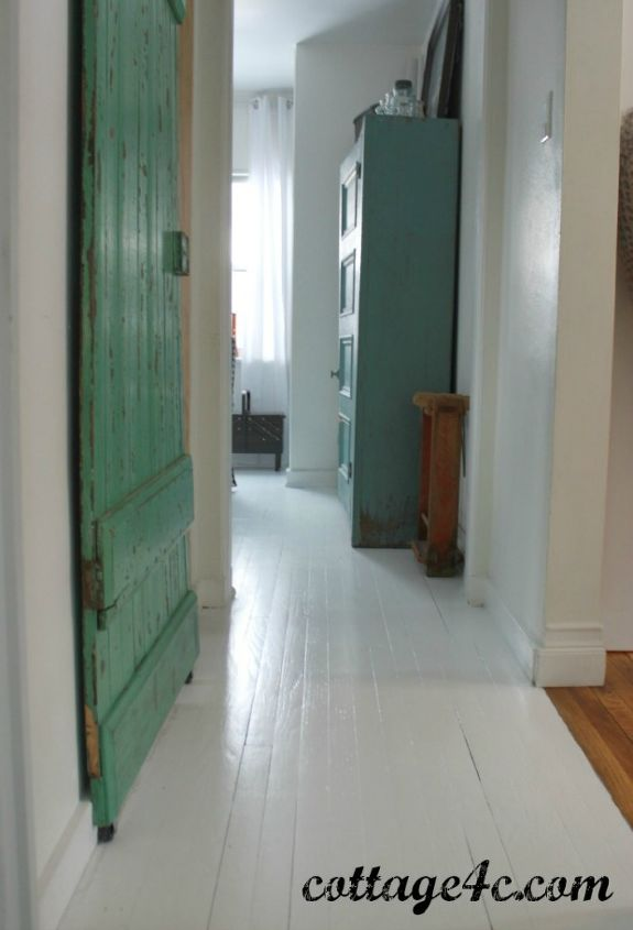 Painted White Wood Floors Hometalk