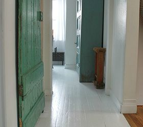 Charmant Painted White Wood Floors