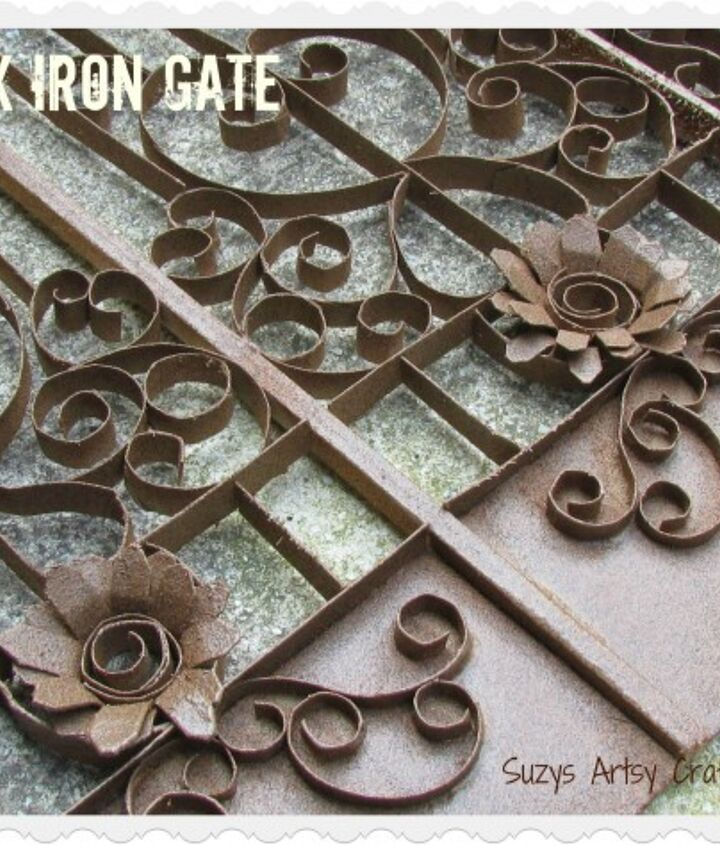 faux iron gate made from toilet paper tubes, crafts, fences, repurposing upcycling