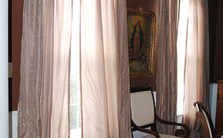 new curtains in the dining room, dining room ideas, home decor, This is the before photo
