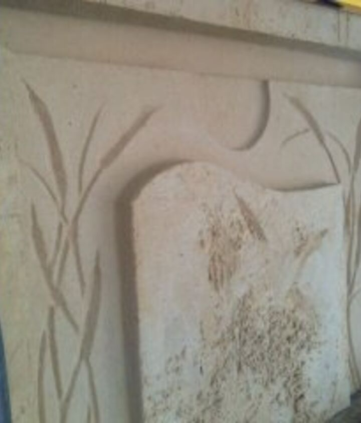 My sand-mold for Concrete Mantel.