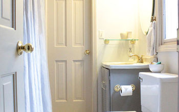 83 bathroom makeover, bathroom ideas, home decor, A little paint and a few DIY projects can go a long way Details of how to do each project found on the blog