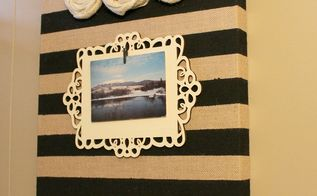 burlap canvas picture holder, crafts, home decor