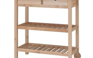 customizing an ikea kitchen cart, painted furniture