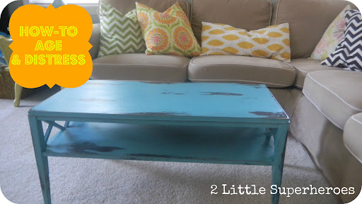 Using Vaseline To Distress A Coffee Table Painted Furniture Makeover