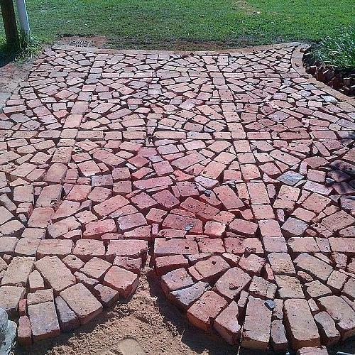 Try and keep your circles lined up, so that you can see squares as well as circles on your paved area.