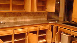 q what is the best paint to use for kitchen oak cabinets, kitchen design, painting, Oak Kitchen Cabinets BEFORE