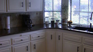 q what is the best paint to use for kitchen oak cabinets, kitchen design, painting, Oak Kitchen Cabinets AFTER