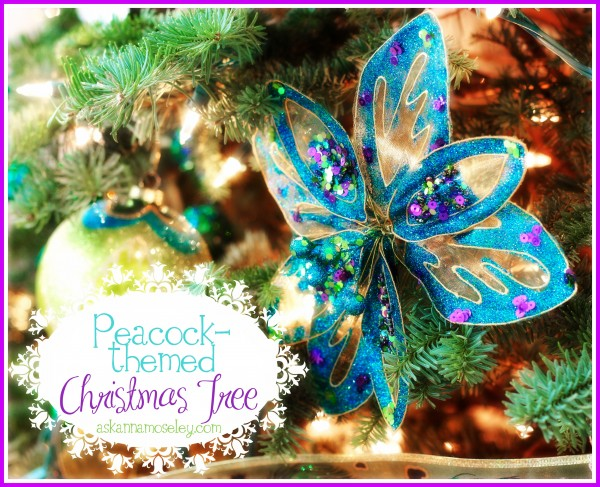 christmas tree theme peacock christmas decorations seasonal holiday decor