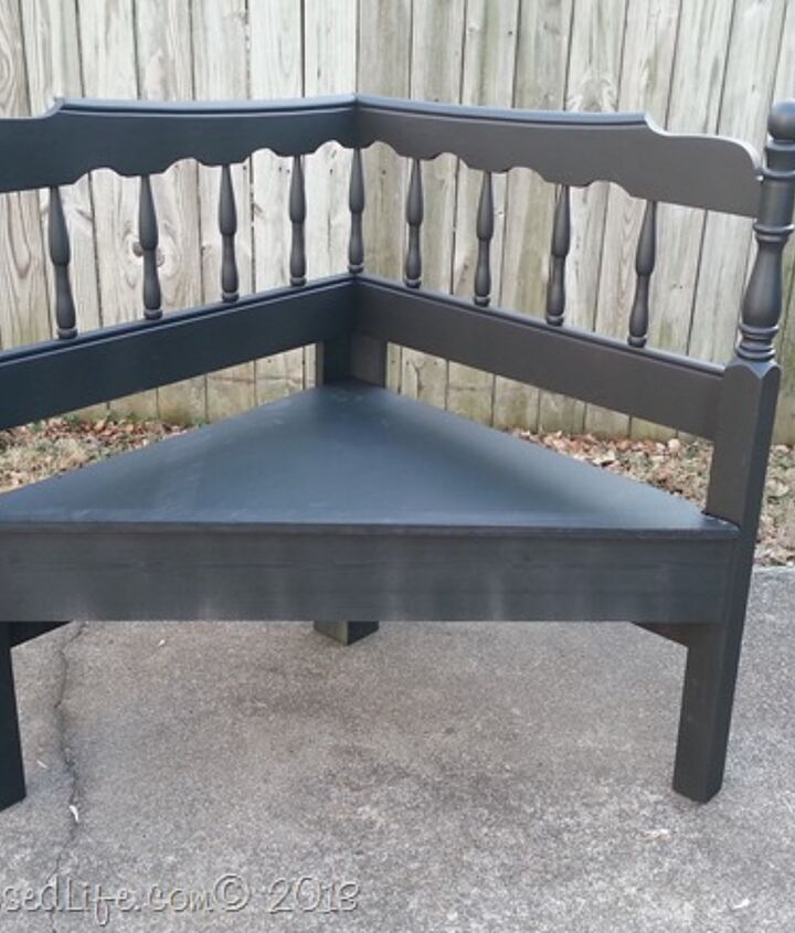 diy headboard into corner bench, painted furniture, repurposing upcycling