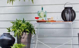 double duty decor for entertaining, decks, gardening, outdoor furniture, outdoor living