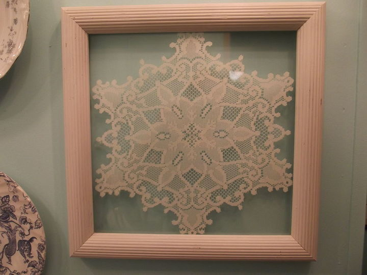 framing lace, home decor, Very easy to relocate as the color is neutral