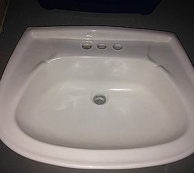 Q How To Get An Etched Chipped Porcelain Sink Back To New, Bathroom Ideas,