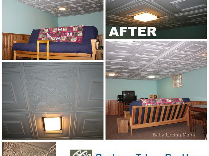 before and after basement remodel, basement ideas, diy, home improvement, tiling