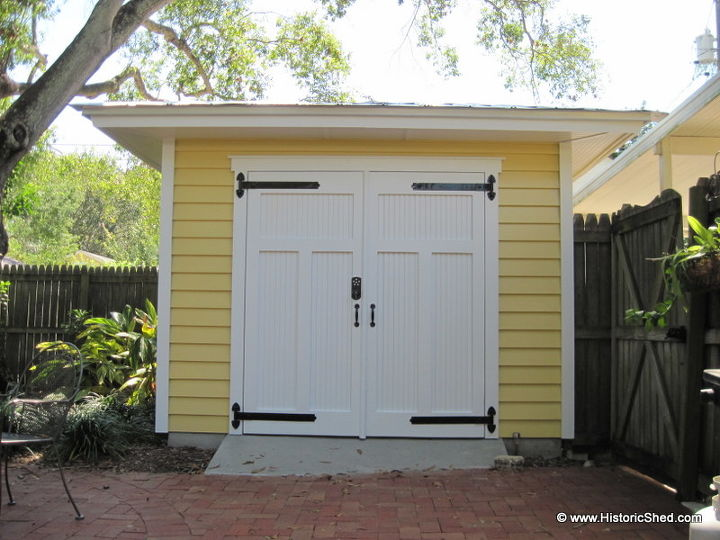 hipped roof shed, garages, outdoor living, roofing, Cypress bead board door with a concrete ramp