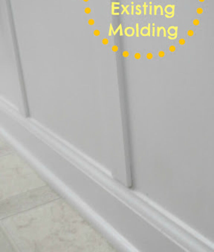 How to tie board and batten into existing baseboard molding