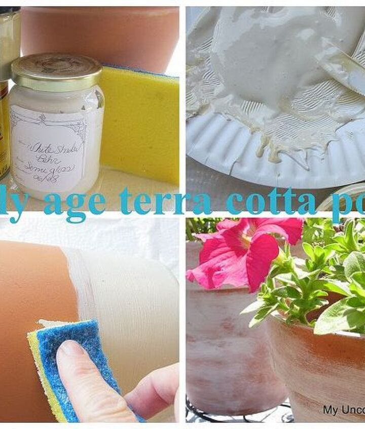 how to easily age terra cotta pots, crafts, gardening
