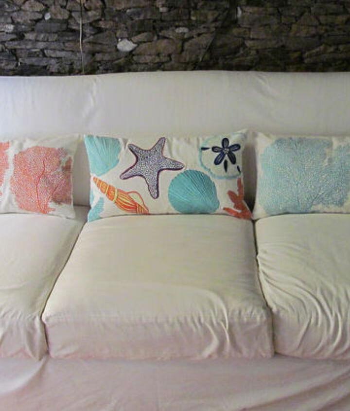Sea themed pillows