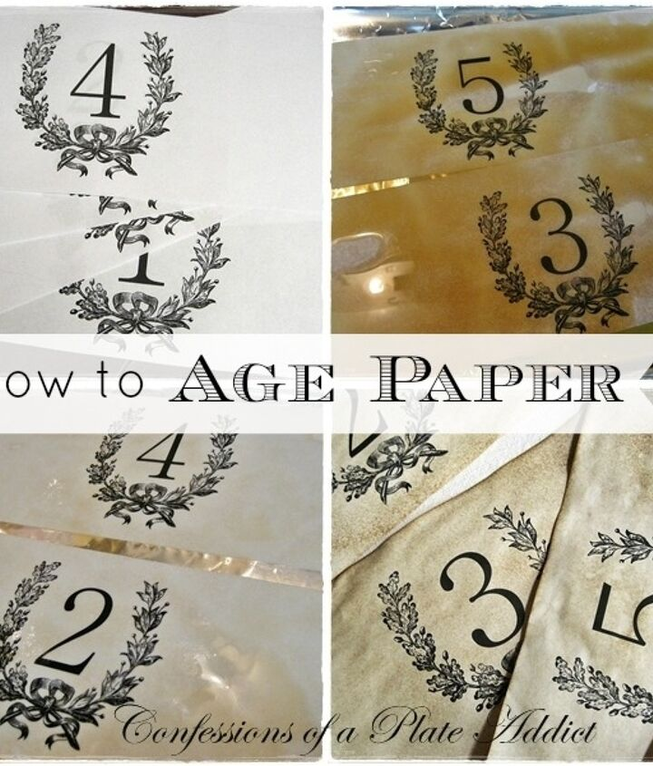 Instructions for aging paper can also be found on my blog.