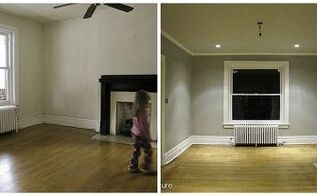 lr makeover for 360, home decor, living room ideas, side by side before and after empty