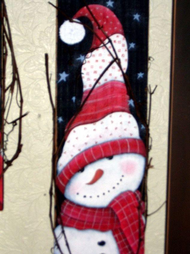 Peppermint Snowman on Picket by Gran Art