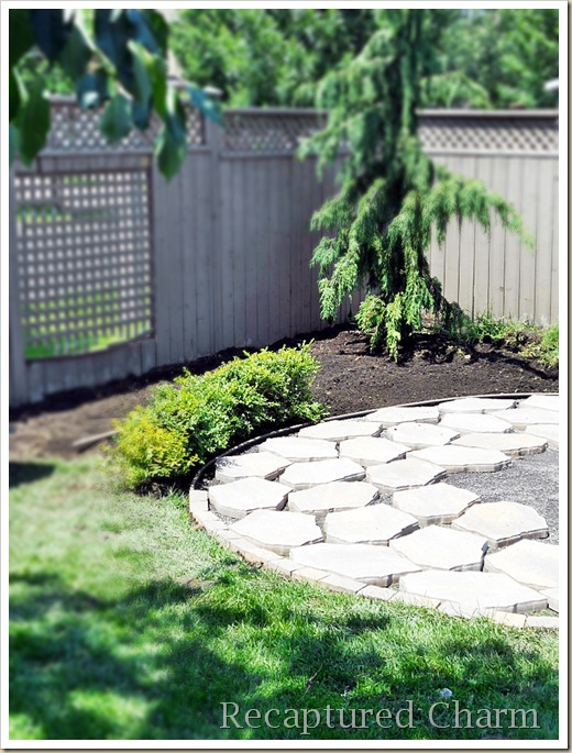 Arrange your pavers leaving space for pea stone.