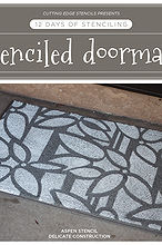 12 days of stenciling a stenciled doormat, crafts, flooring, painting